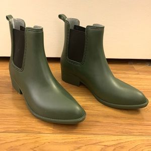 J. Adams BRAND NEW Rain Boots, sz 8 hunter green